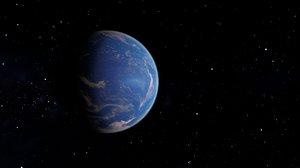 3D planet cloud atmosphere model