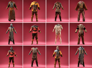 3D clothing avatars outfits model