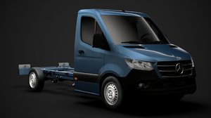 mercedes sprinter chassis single 3D model