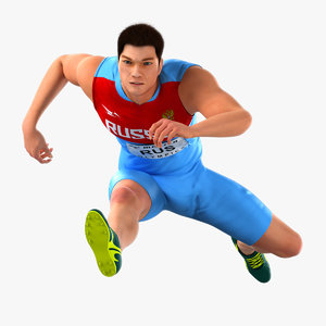 3D runner animations running