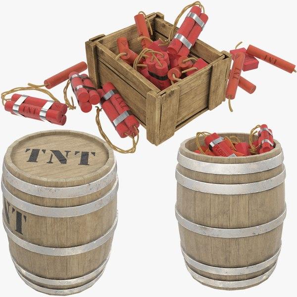 tnt box barrel 3D