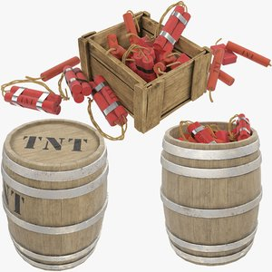 tnt box barrel 3D