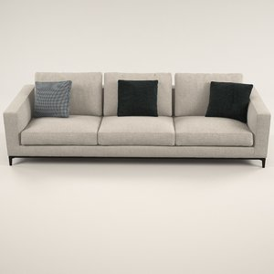 silver sofa design 3D model