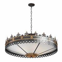 chandelier swedish style brass 3D model