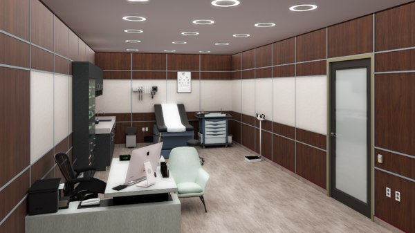 3D doctor clinic interior