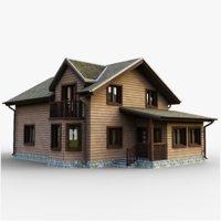 3D gameready cottage 8 house model