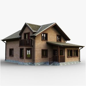 3D gameready cottage 8 house model
