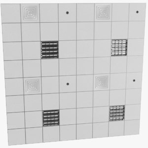 3D real false ceiling model