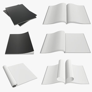 magazine a4 3D model