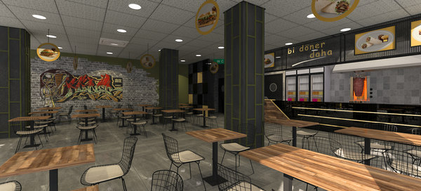 turkish restaurant doner 3D model