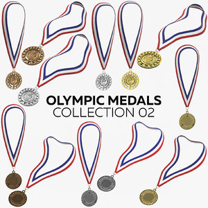 olympic medals 02 model