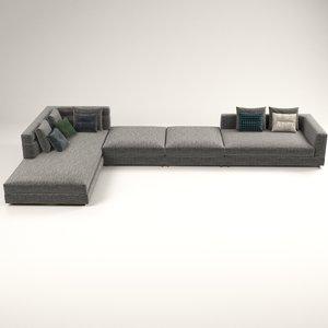 3D wise corner sofa