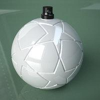 3D Printable Soccer Final Ball Ornament model