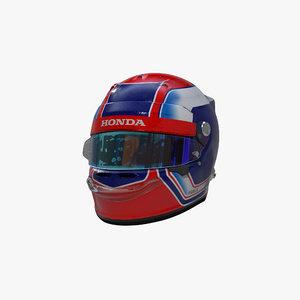 gasly 2019 helmet 3D model