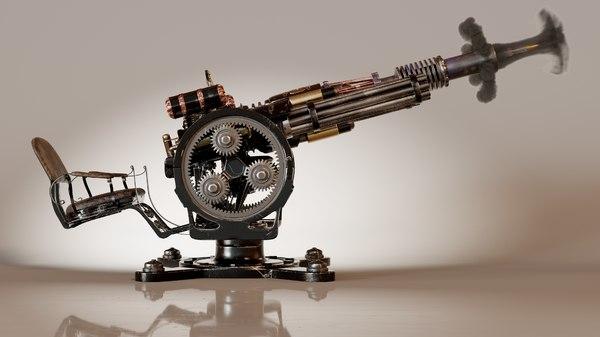 redeemer steamgun guns 3D model