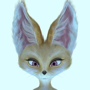 female fennec fox 3D model