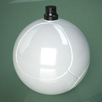 3D Printable Soccer Roose Ball Ornament model