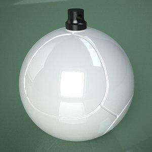 printable soccer ball roose 3D model