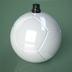 3D printable soccer ball socket model