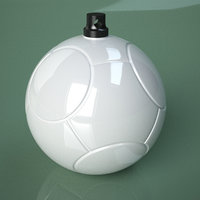 3D Printable Soccer Swirl Ball Ornament Model