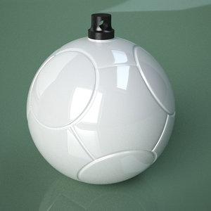 printable soccer ball swirl 3D model