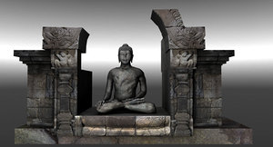 3D model old buddha statue