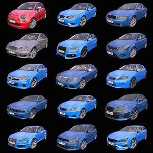 3D pack 15 generic european model