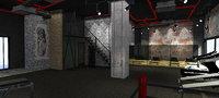 3D gym nterior design