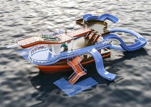 3D aqua ship