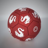 fabric football soccer ball 3D model