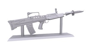3D model print l85a2 british assault rifle