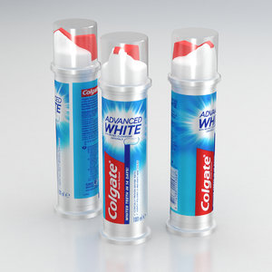 3D toothpaste model