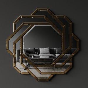 3D mirror mulini eichholtz model