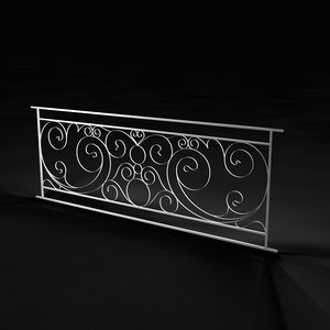 light fencing porch 3D model