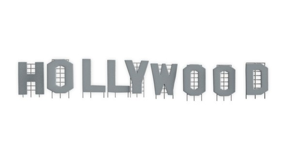 3D hollywood sign