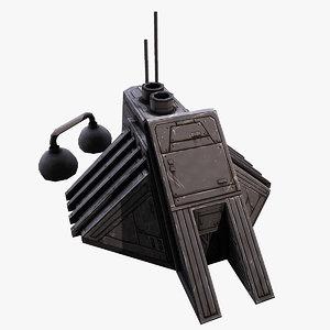 3D futuristic command center structure