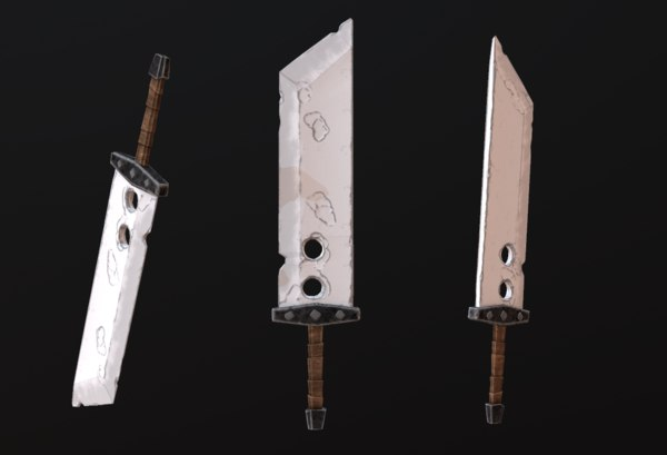 stylized sword 3D model