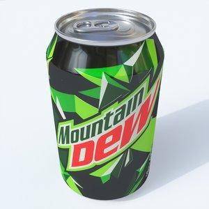 3D softdrink mountaindew model