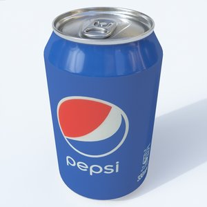 3D softdrink pepsi model