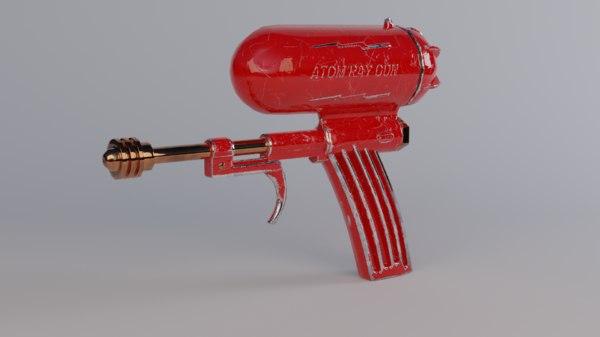 3D vintage atom gun waterpistol model