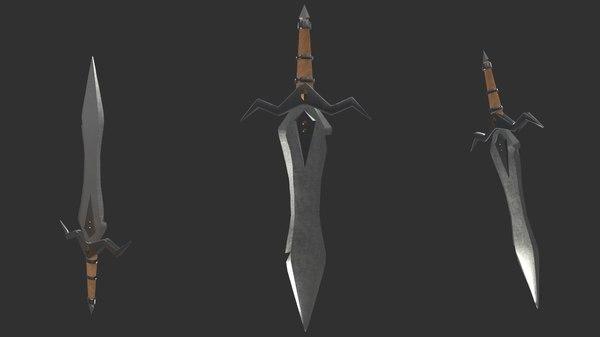 3D model sword middle ages