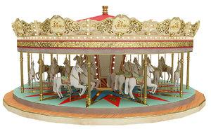 carousel ride 3D model