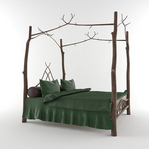 3D fantasy bed model