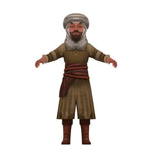 3D man turban