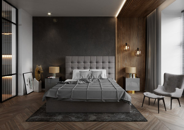 bedroom interior corona scene 3D model