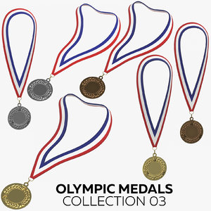 olympic medals 03 3D model