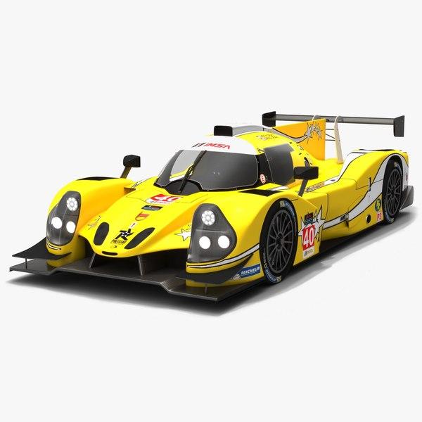 3D model polestar motor racing imsa