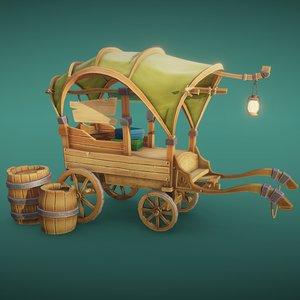 trade s cart 3D model