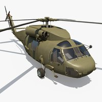 3D military helicopter - vehicle