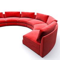 Red Circular party sofa